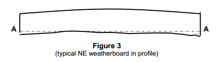Typical NE weatherboard in profile
