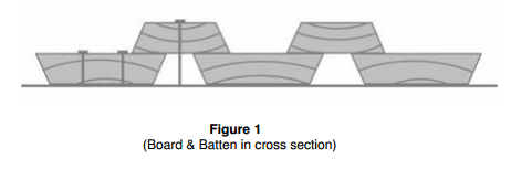 Board and Batten in cross section