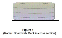 Radial Boardwalk Deck in cross section